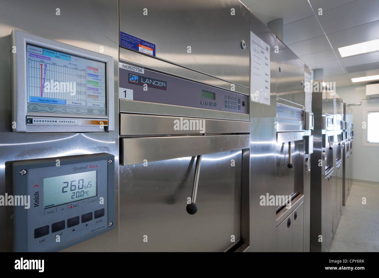 Royal Hospital di Bournemouth Unità Di Endoscopia, strumento trasformazione camera - Apparecchiature usate Immagini Stock