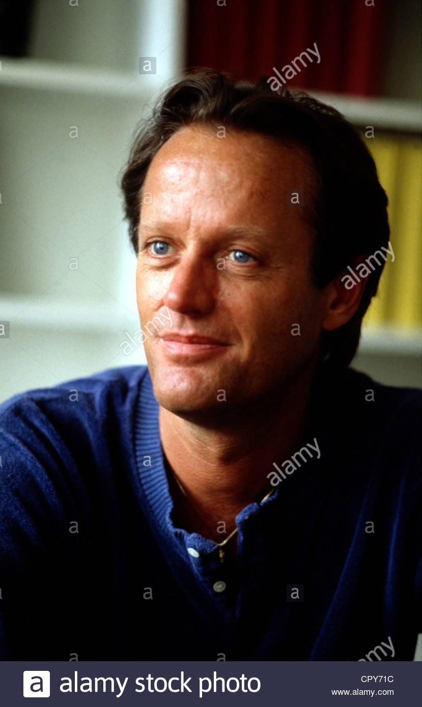 Fonda, Pietro, * 23.2.1940, noi attore, regista, ritratto, degli anni ottanta, gli occhi blu, sorridente, sorriso, Immagini Stock