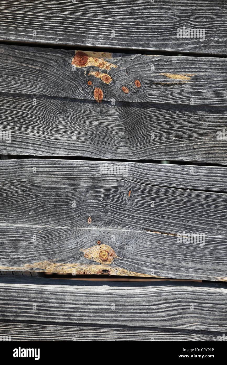 Pareti in legno, legno plance, sfondo Immagini Stock
