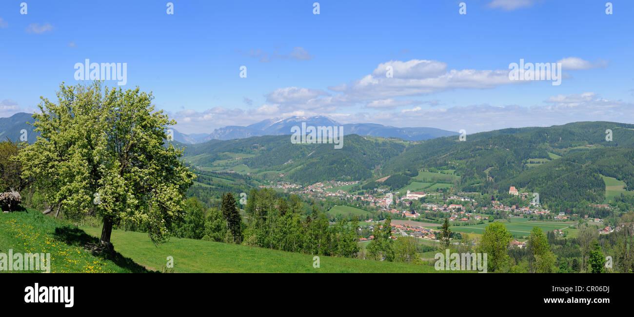 Vista di Kirchberg, st. corona, Austria inferiore, Austria, Europa Immagini Stock