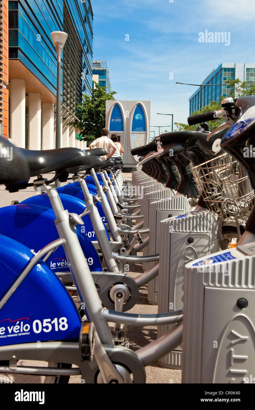 Francia, Bouches du Rhone, Marsiglia, Le Vélo self-service noleggio bici Immagini Stock