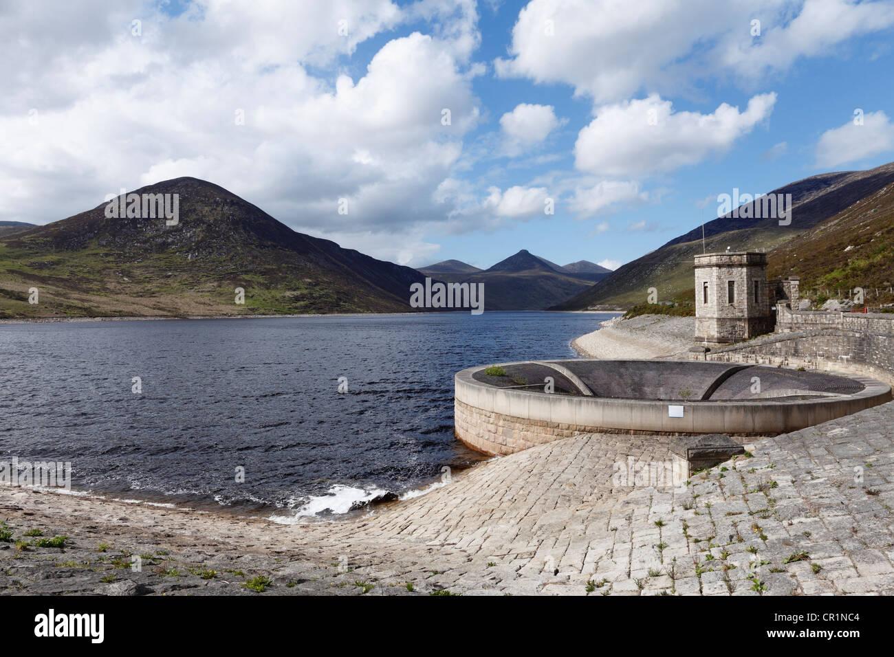Silent Valley serbatoio, Mourne Mountains, County Down, Irlanda del Nord, in Irlanda, Gran Bretagna, Europa Immagini Stock