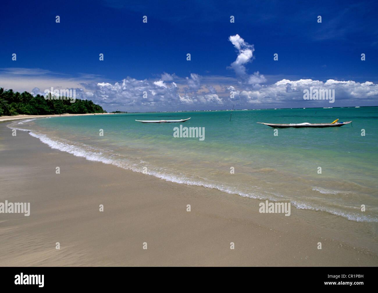 Il Brasile, Bahia, Ilha de Tinhare, Morro de Sao Paulo, la quarta spiaggia Immagini Stock