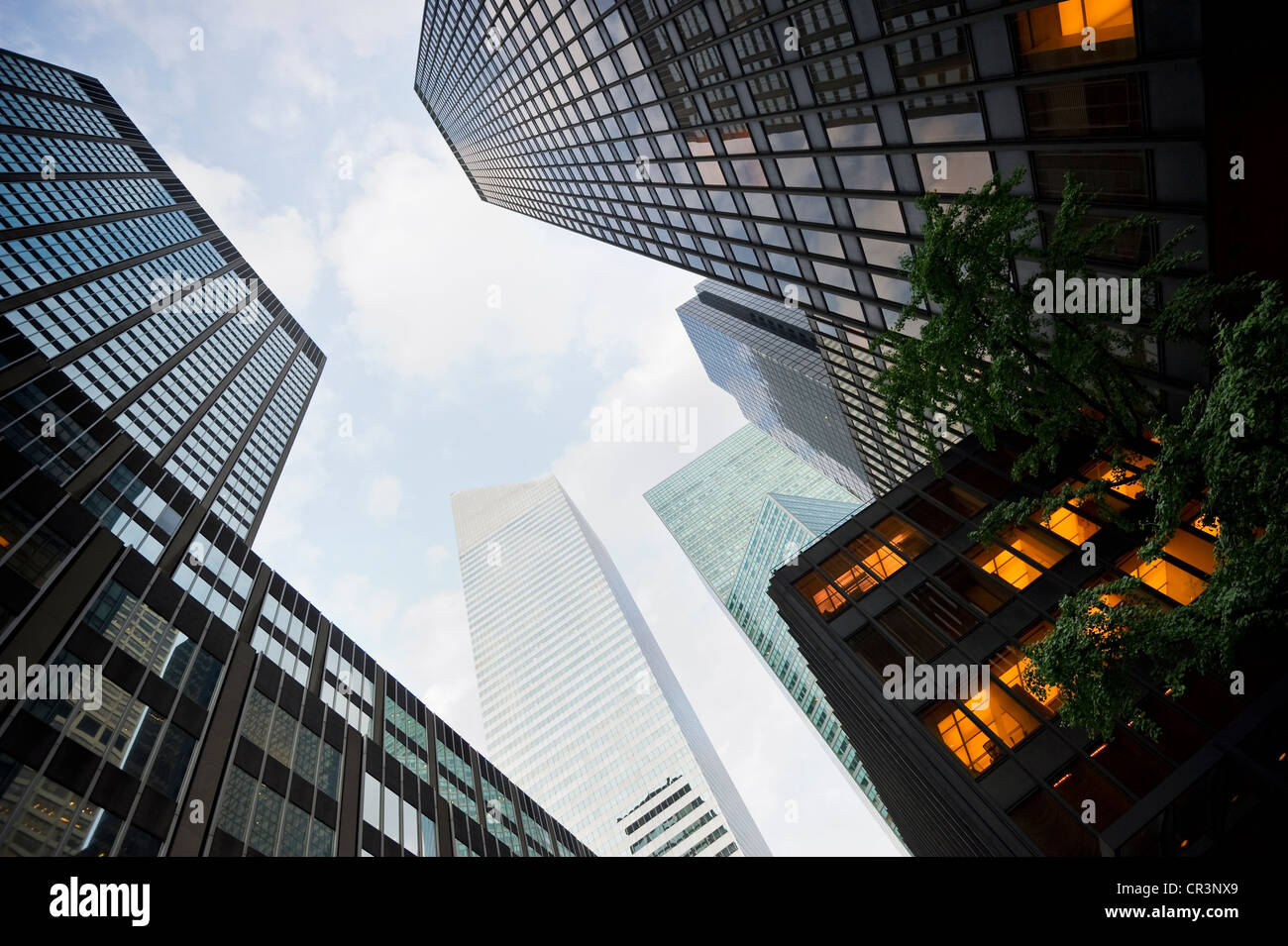 Edifici ad alta, Park Avenue, Manhattan, New York, USA, America Immagini Stock