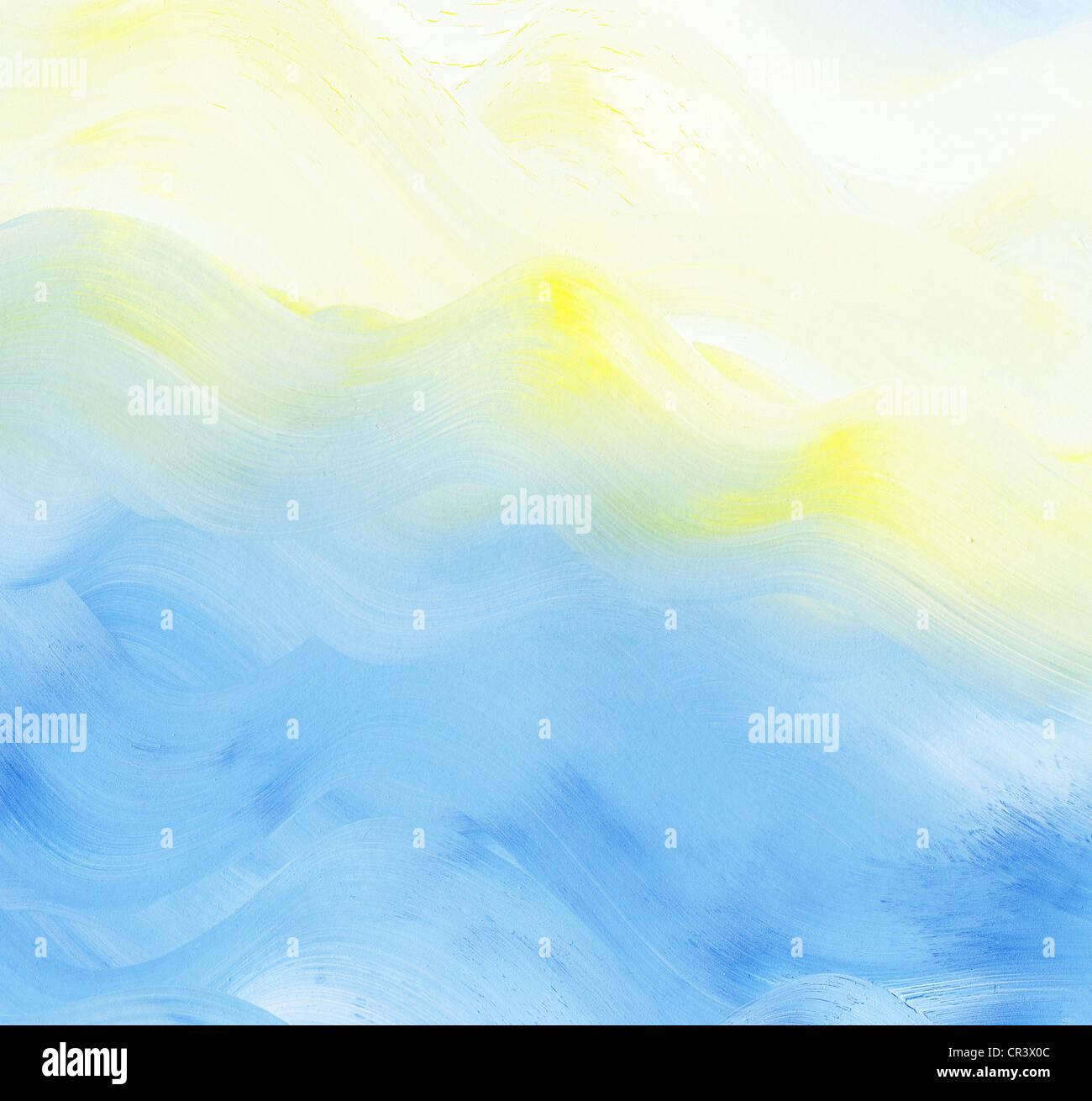 Abstract colorato sfondo ad acquerello Immagini Stock