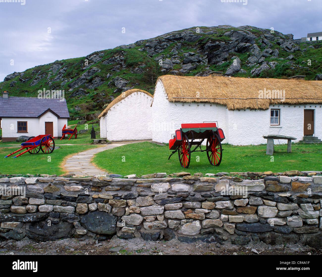 Museo della Cultura Popolare, Glencolumbkille, County Donegal, Repubblica di Irlanda, Europ Immagini Stock