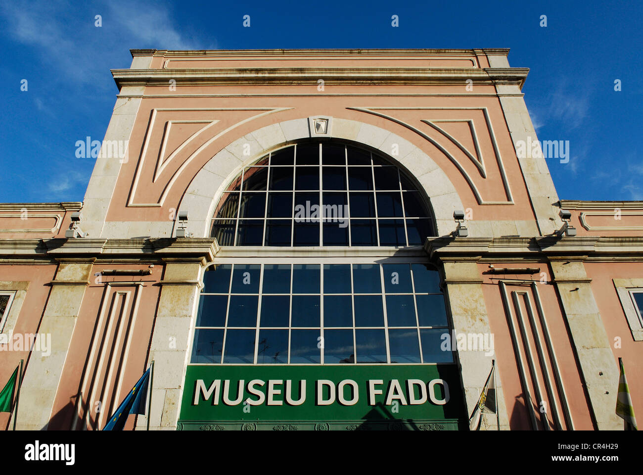 Il Portogallo, Lisbona, quartiere di Alfama, Museo del Fado (Museu do fado), Largo do Chafariz de dentro 1 Immagini Stock