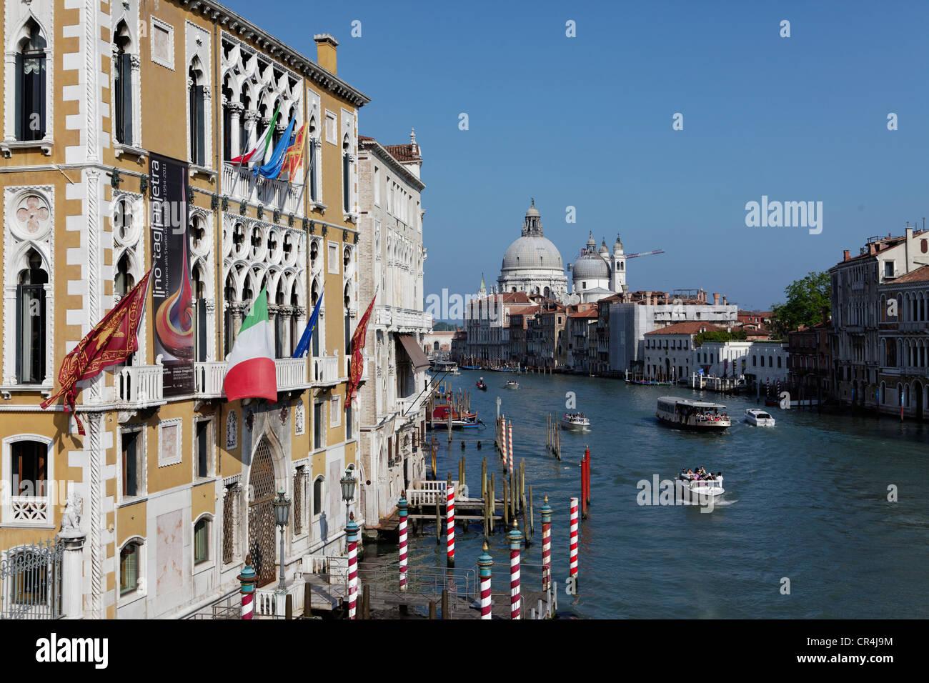 Istituto Veneto di Scienze, Lettere ed Arti, il Palazzo Cavalli Franchetti, la zona di San Marco, Venezia, patrimonio Immagini Stock