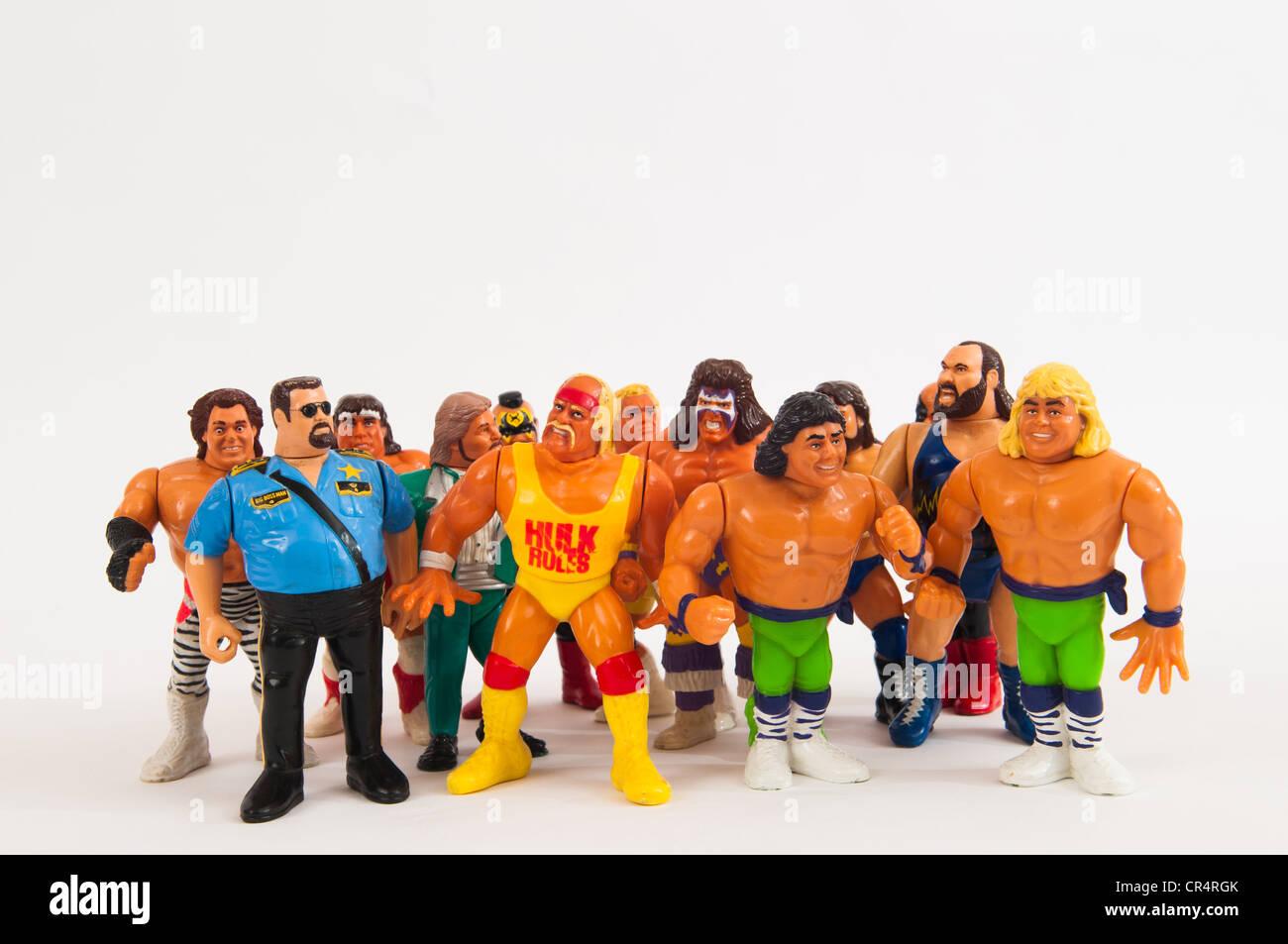 Il WWF Toy figure di wrestling Immagini Stock