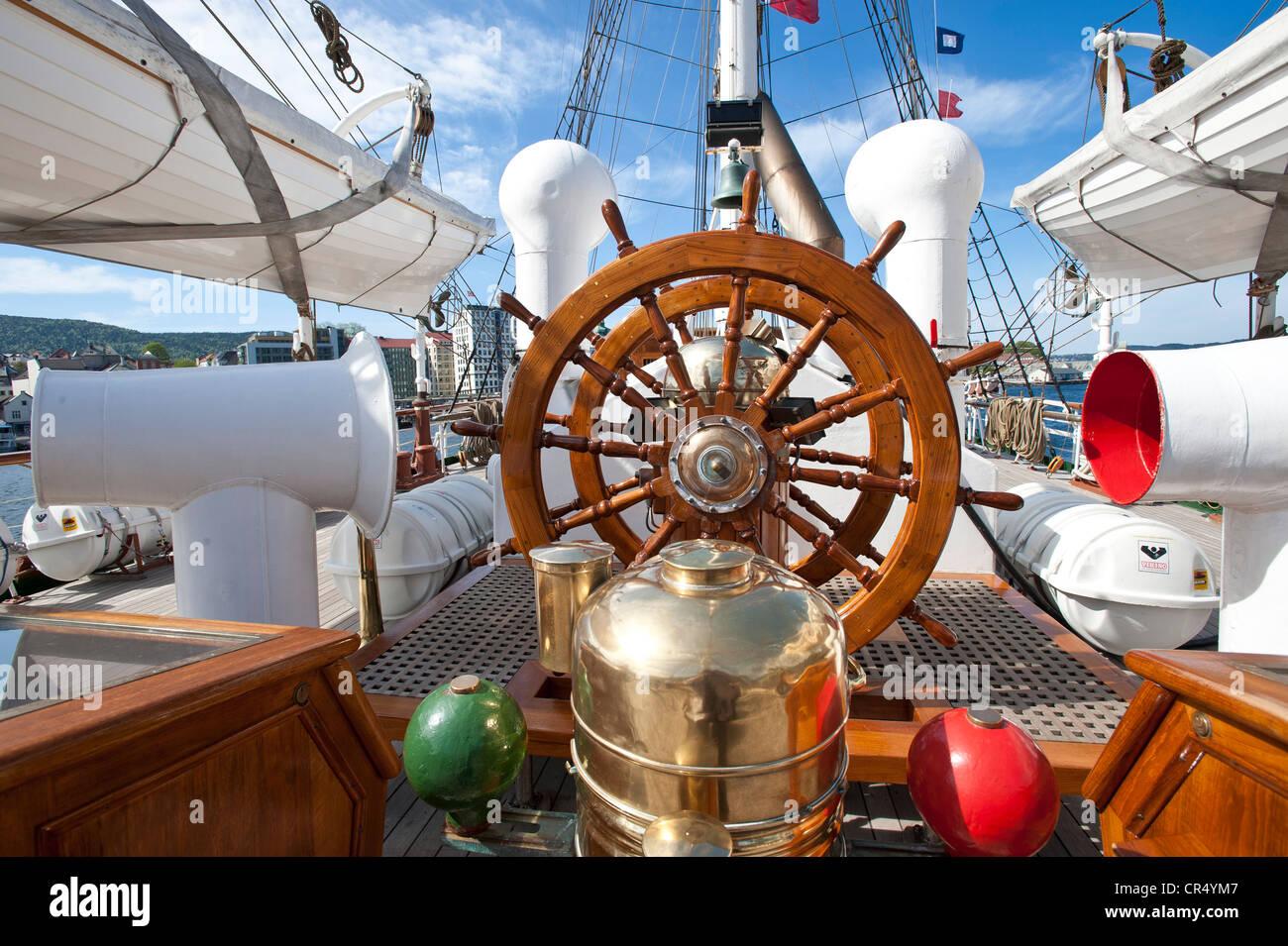 Volante, SS Lehmkuhl, Bergen, Norvegia, Scandinavia, Europa settentrionale Immagini Stock