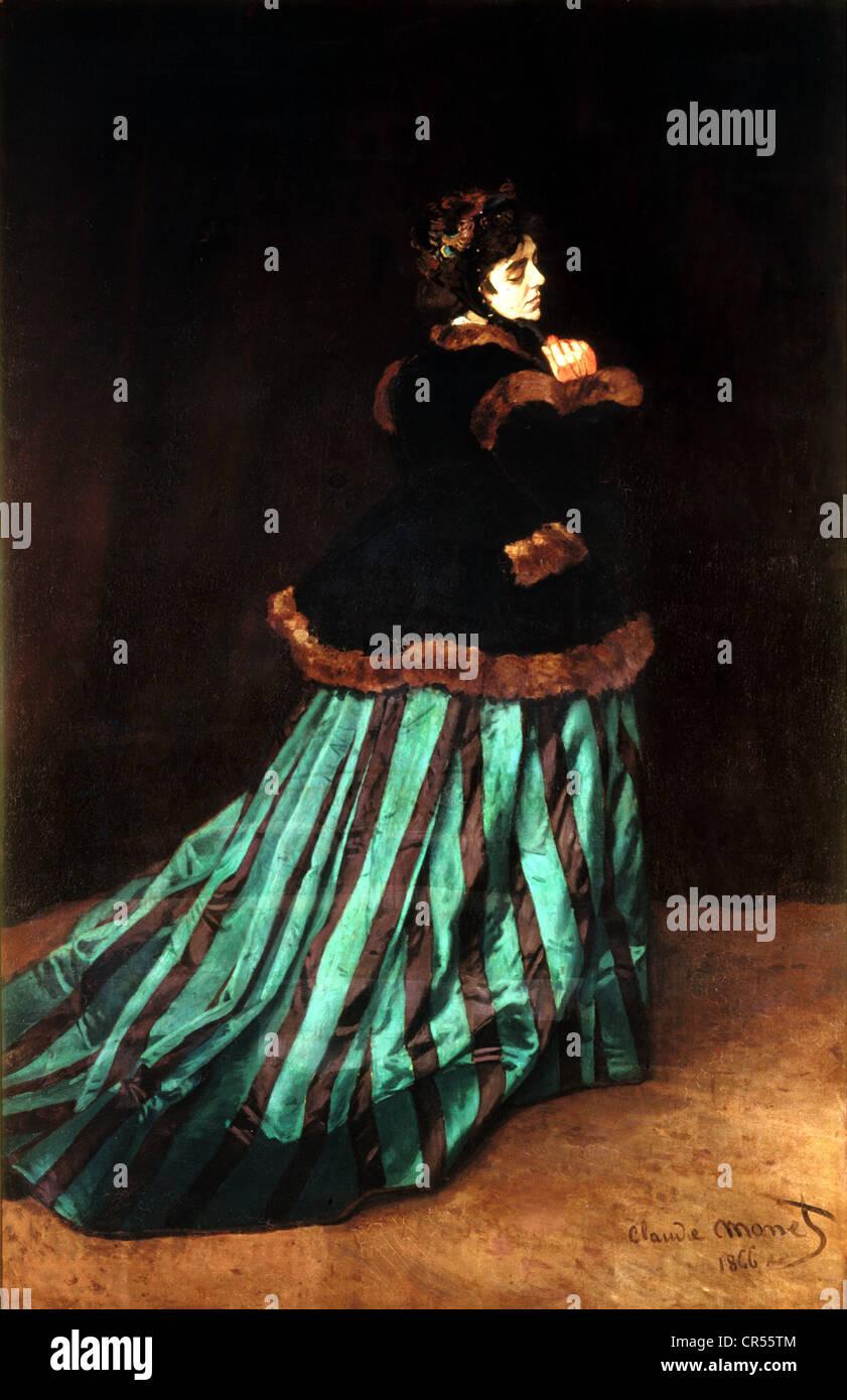 """Monet, Claude, 14.2.1840 - 6.12.1926, artista francese, la pittura """"Camille"""", olio su tela, 231x151 cm, Immagini Stock"""
