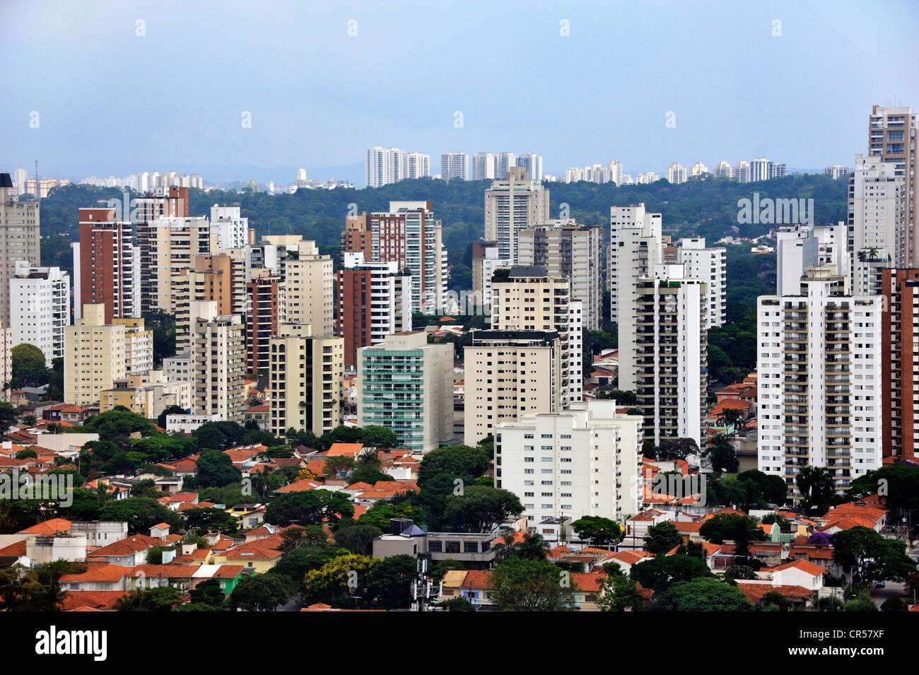 Edifici ad alta, Sao Paulo, Brasile, Sud America Immagini Stock