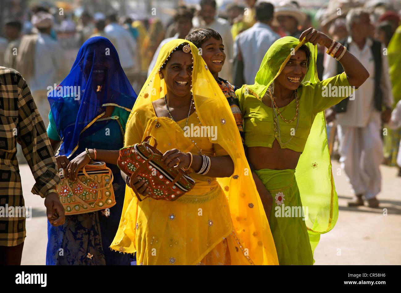 India Rajasthan, Pushkar, durante la fiera di Pushkar Immagini Stock
