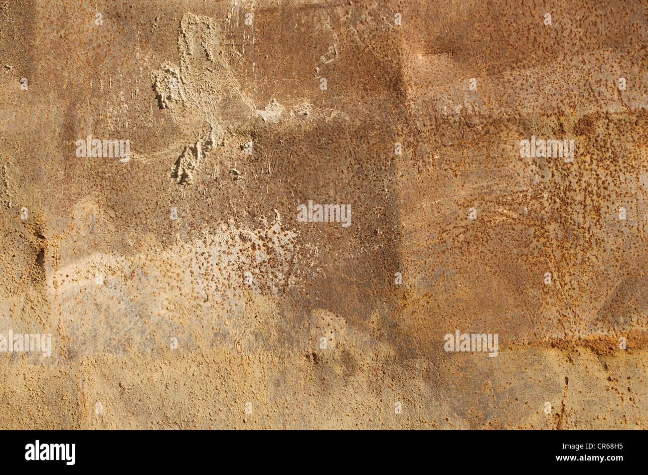 Rusty superficie metallica, sfondo Immagini Stock