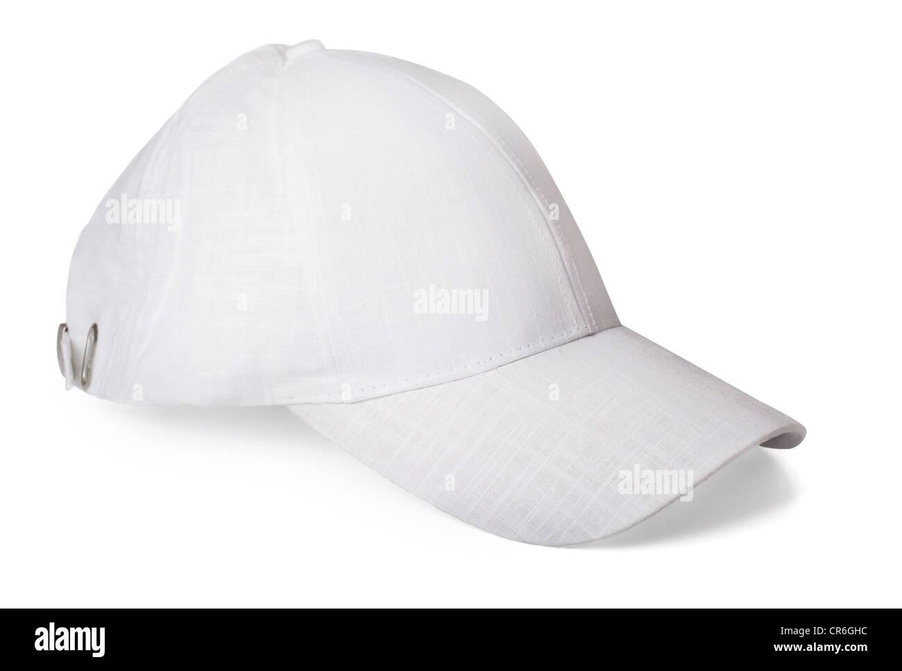 Bianca Cappello da baseball isolato su bianco Foto   Immagine Stock ... 81f1e3ed6cf4