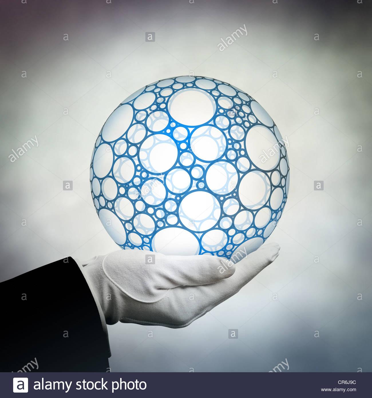 globo della holding Immagini Stock