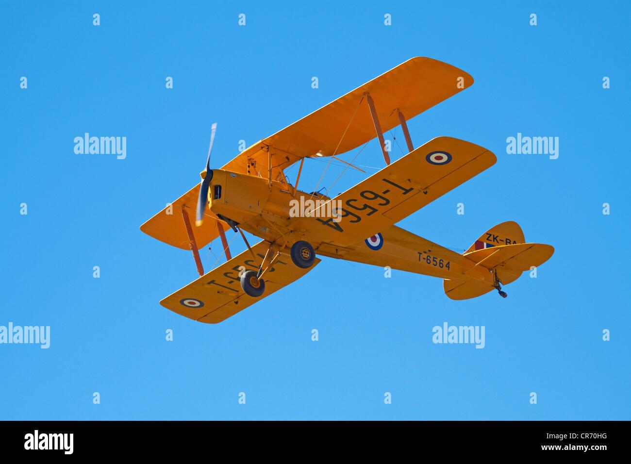 De Havilland DH 82A Tiger Moth biplano Immagini Stock