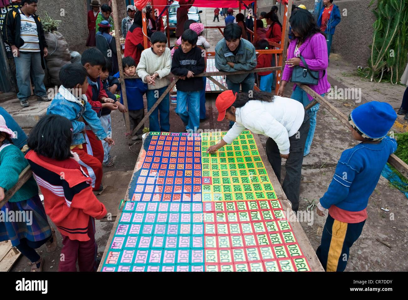 Il Perù, Provincia di Cuzco, Cuzco, lotto sul mercato Immagini Stock