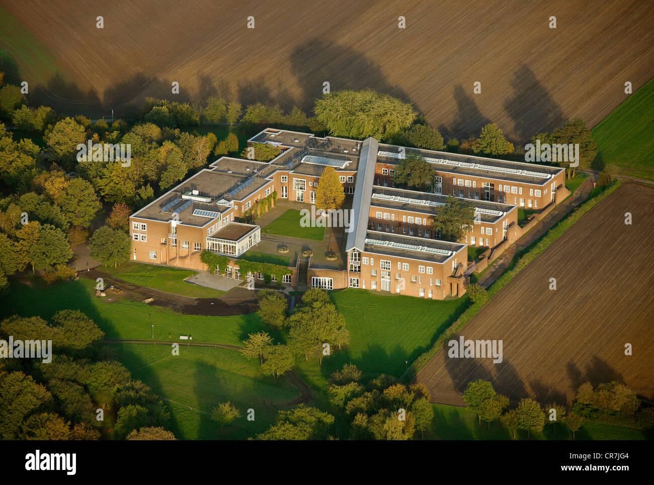 Vista aerea, Justizakademie, advanced training facility, Recklinghausen, la zona della Ruhr, Renania settentrionale Immagini Stock