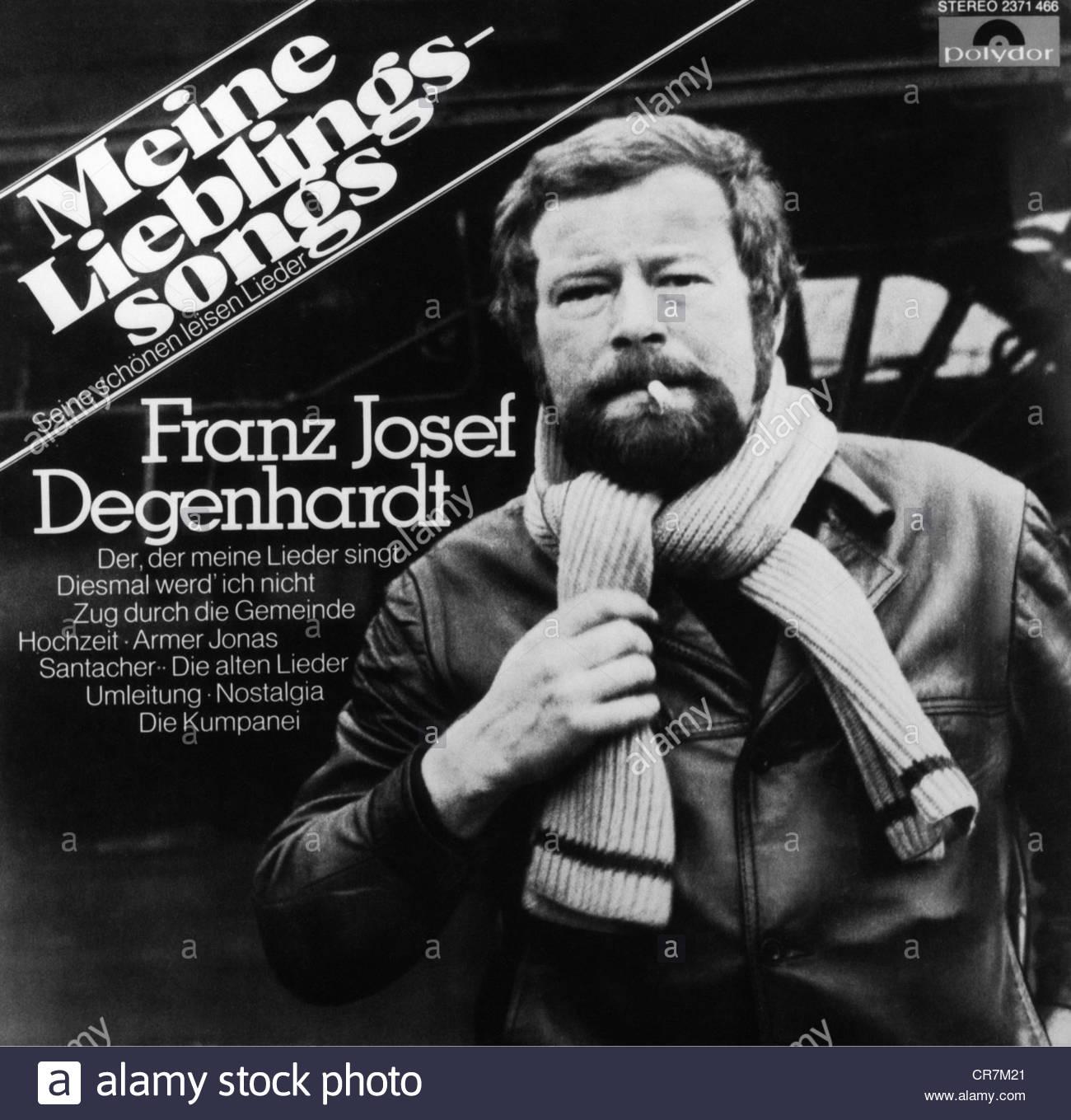 Degenhardt, Francesco Giuseppe, 3. 12.1931 - 14.11.2011, cantautore tedesco, copertina discografica, 'Meine Lieblingssongs' Foto Stock