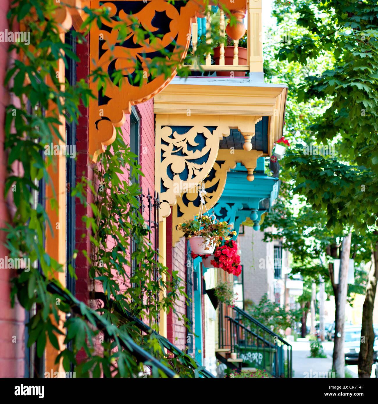 Balconi di Montreal design Immagini Stock