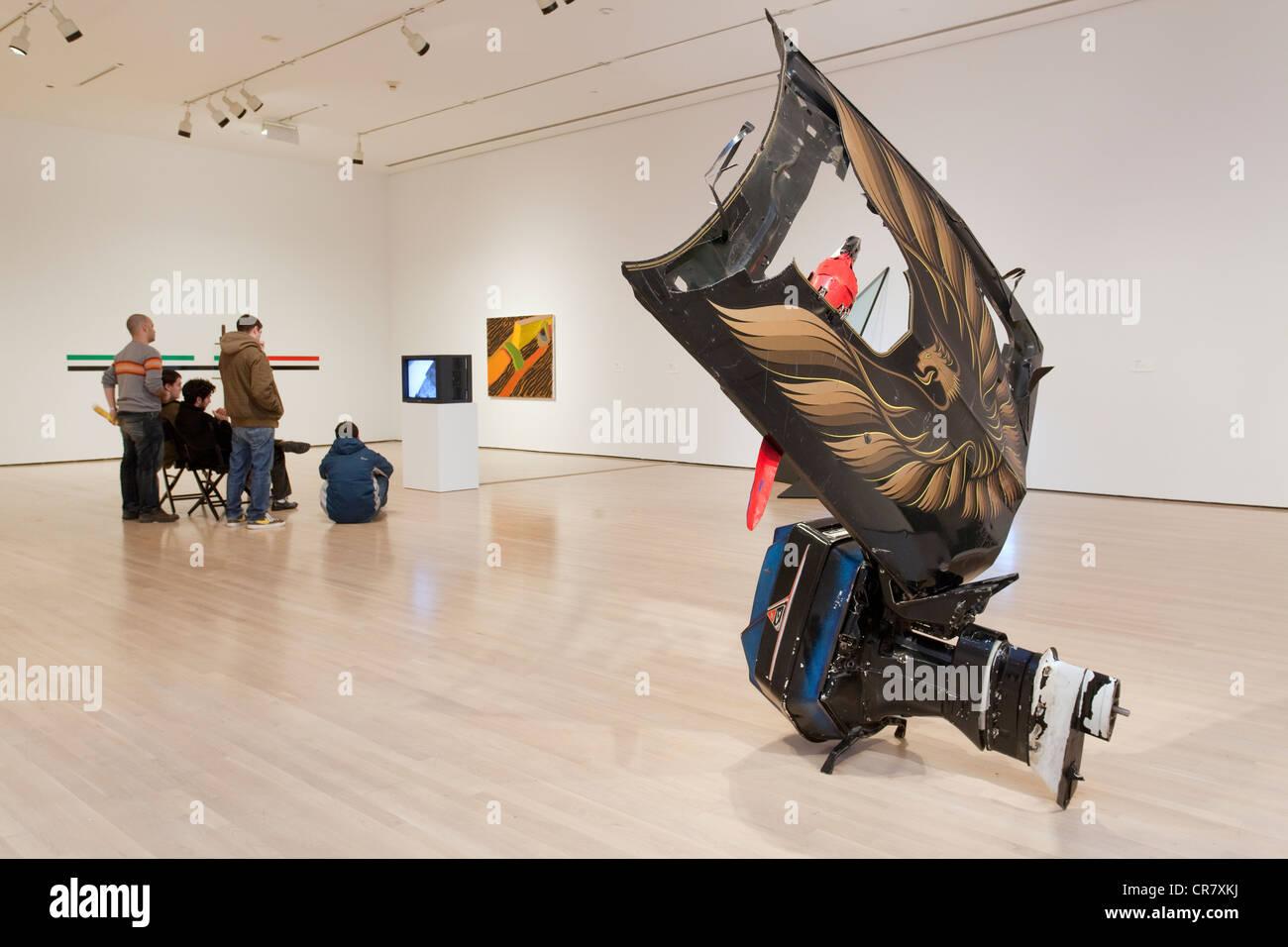 Canada Quebec, Montreal, museo di arte contemporanea, MAC mostra permanente Immagini Stock