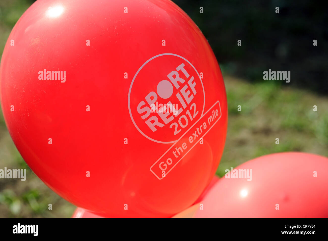 Sport Relief 2012 palloncino Foto Stock