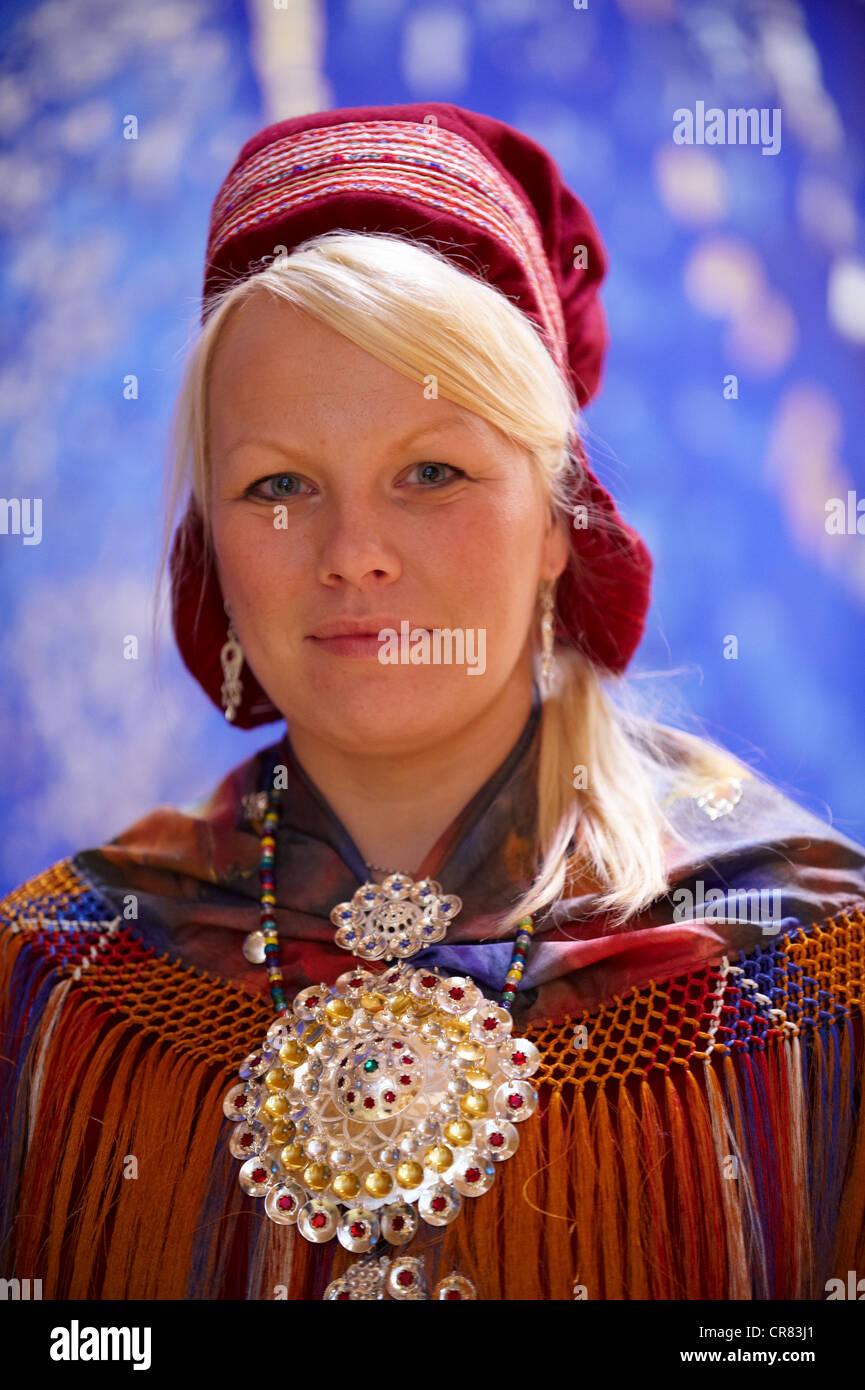 Norvegia Finnmark County Karasjok Sami il Parlamento Sametinget 2009 nuova assemblea plenaria con il nuovo presidente Immagini Stock