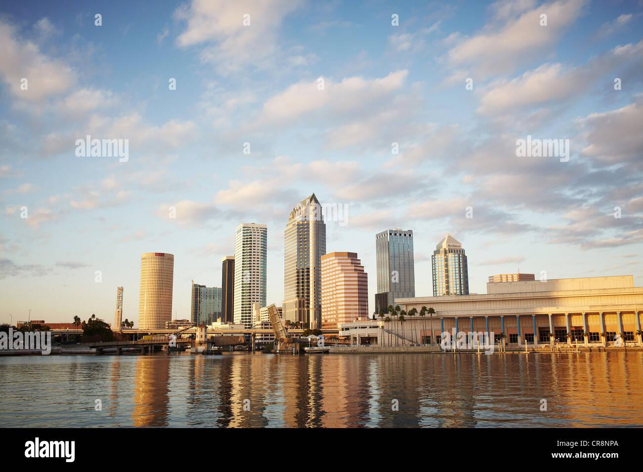 Skyline, Tampa, Florida, Stati Uniti d'America Immagini Stock