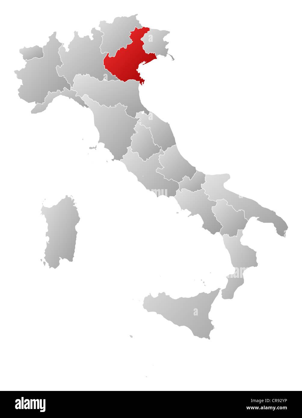 Cartina Dell Italia Veneto.Veneto Map Vector Immagini E Fotos Stock Alamy