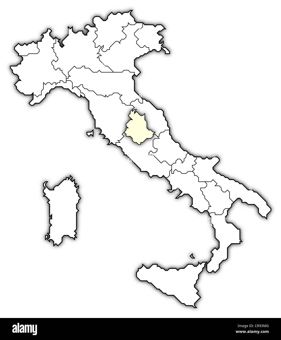 Cartina Italia Politica Umbria.Umbria Outline Immagini E Fotos Stock Alamy