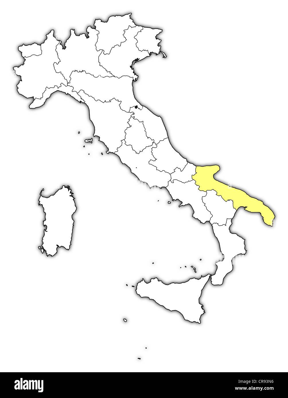 Cartina Dettagliata Puglia.Vettore Di Mappa Di Puglia Immagini E Fotos Stock Alamy
