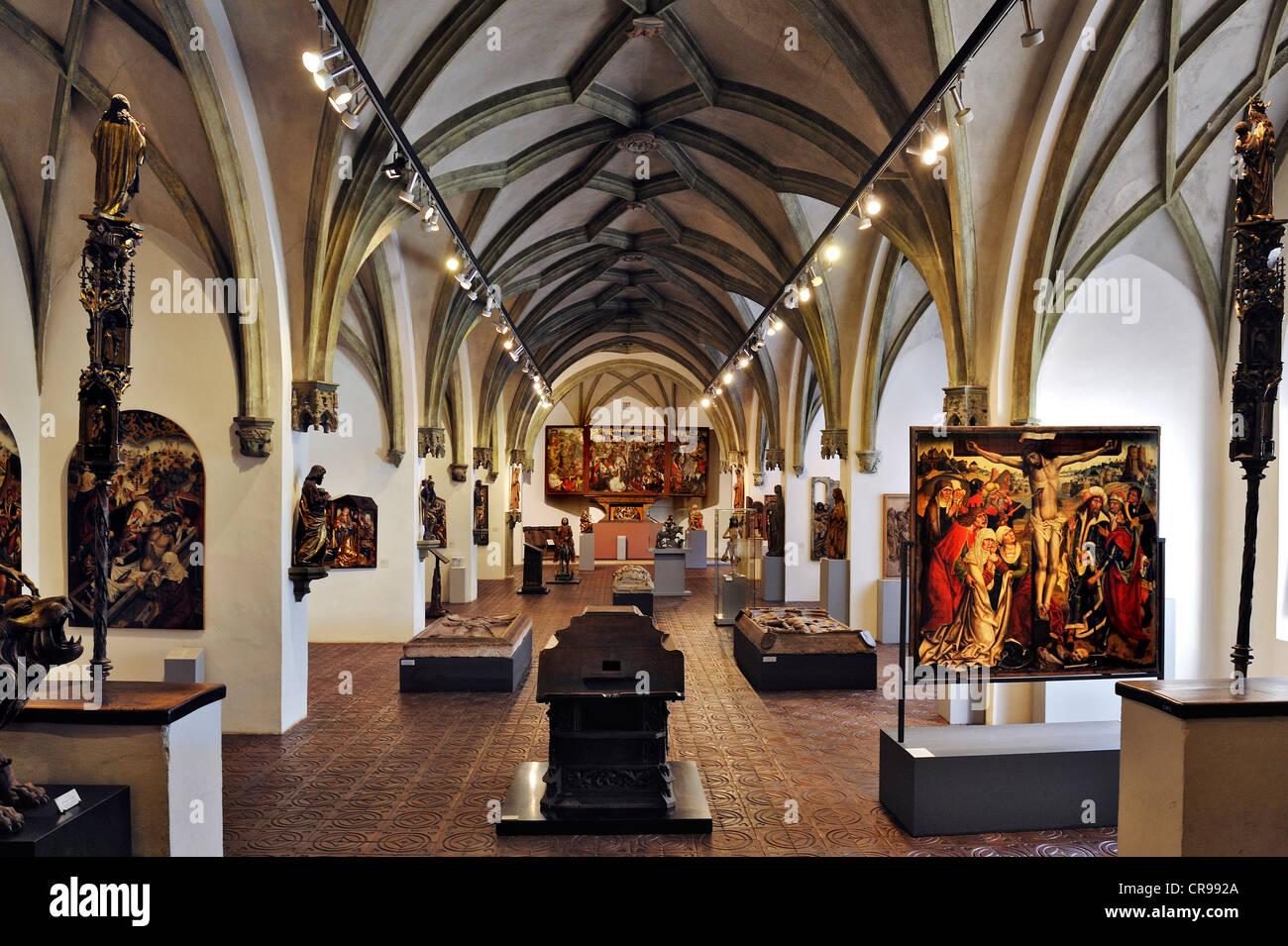 Hall del borgo medievale di arte religiosa, Museo Nazionale Bavarese, Prinzregentenstrasse 3, Monaco di Baviera, Immagini Stock