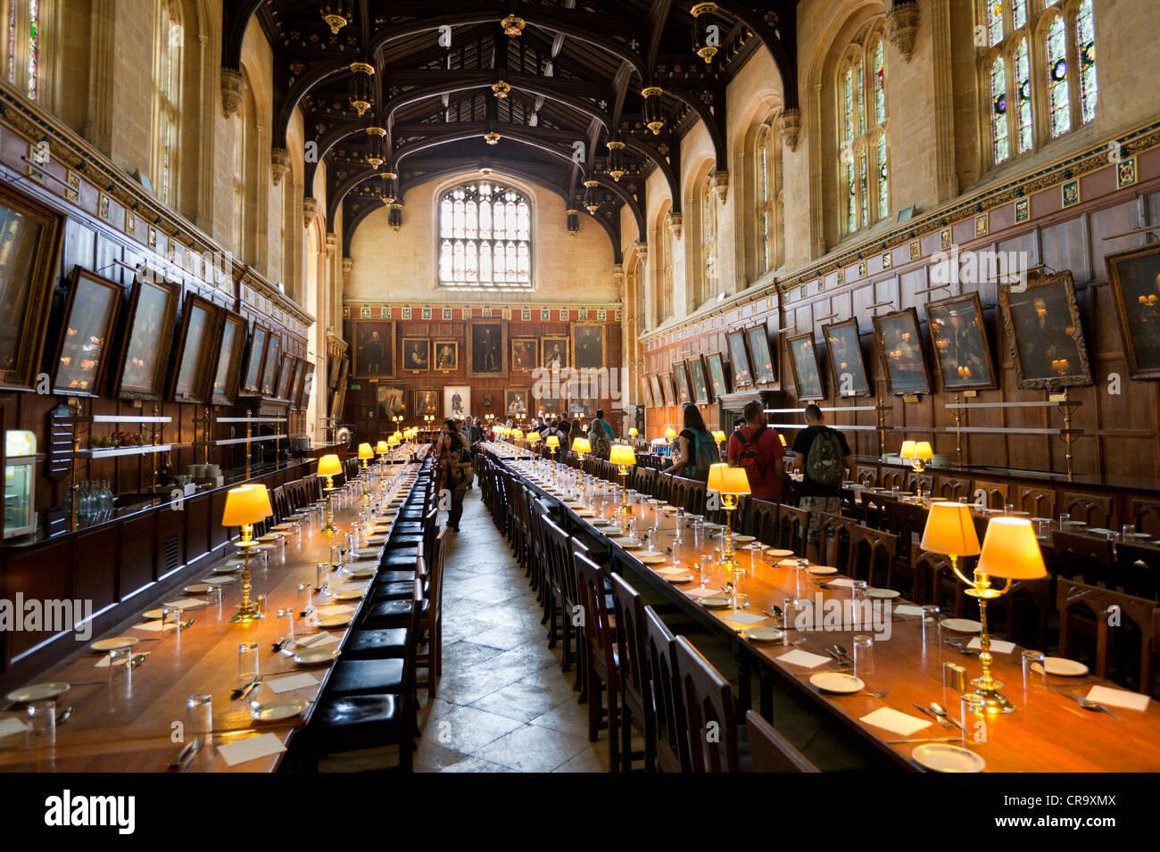 Christ Church College Sala Grande sala da pranzo dell'Università di Oxford Oxfordshire England Regno Unito Immagini Stock