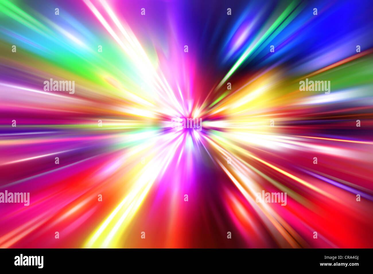 Colorato radiale effetto radiante Immagini Stock