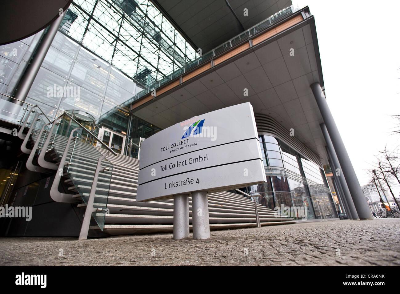 Toll Collect GmbH sede centrale di Berlino, Germania, Europa Immagini Stock