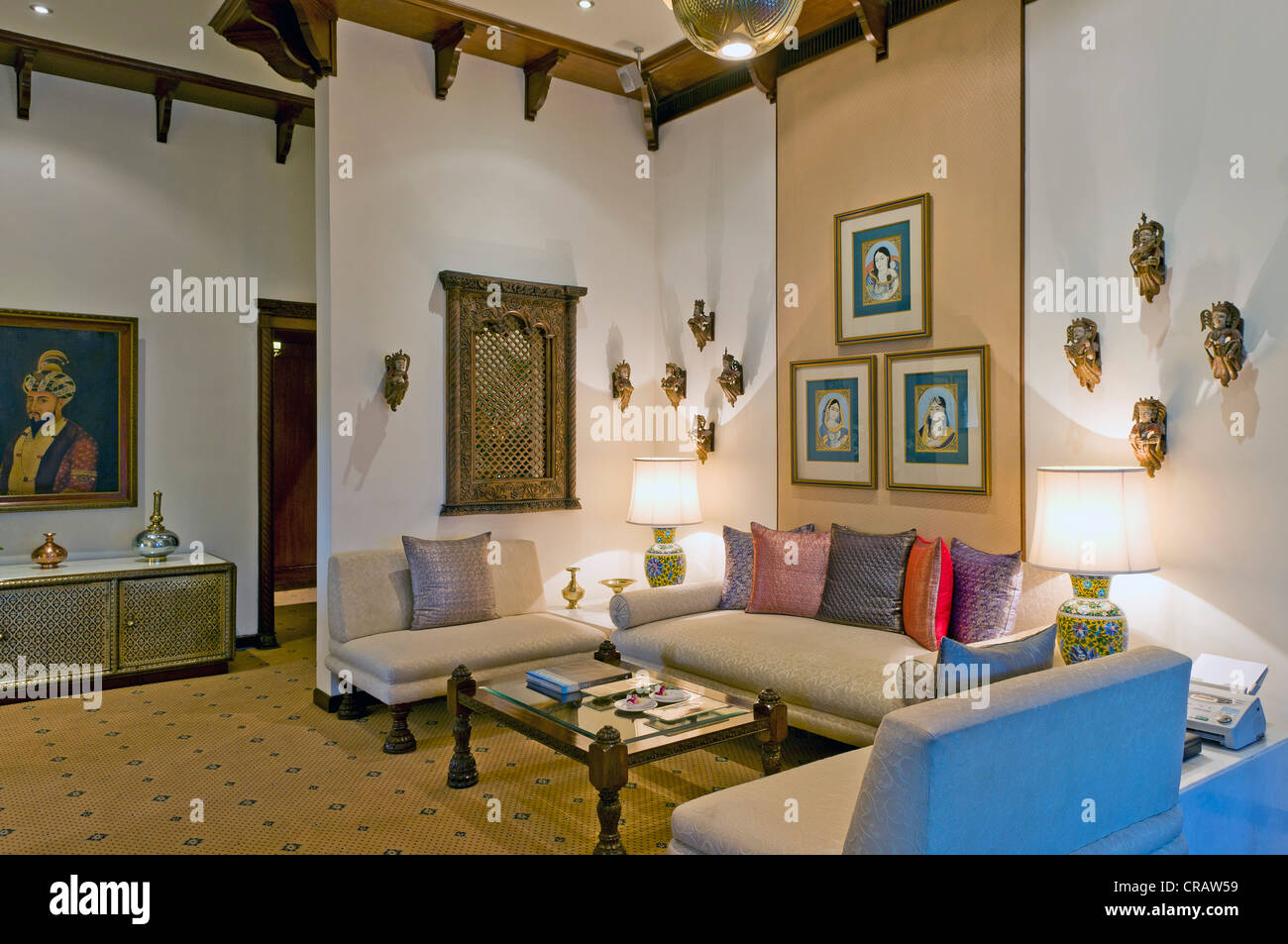 Rajput Suite Hotel Taj Mahal, Colaba district, Mumbai, Maharashtra, India, Asia Immagini Stock