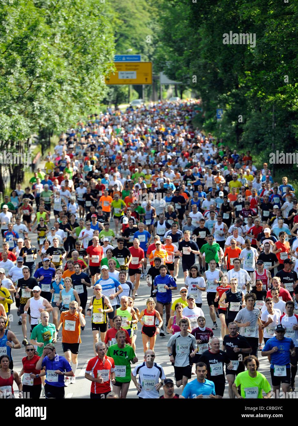 Mezza maratona, 29.05.2011, Stuttgarter-Zeitung-Lauf gara, Stoccarda, Baden-Wuerttemberg, Germania, Europa Immagini Stock