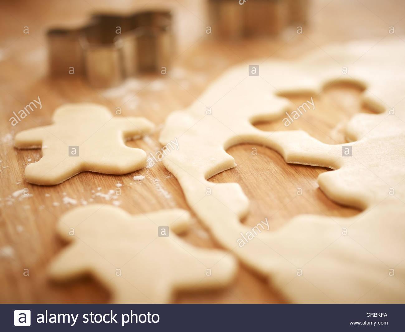 Gli uomini di panpepato pasta biscotto Immagini Stock