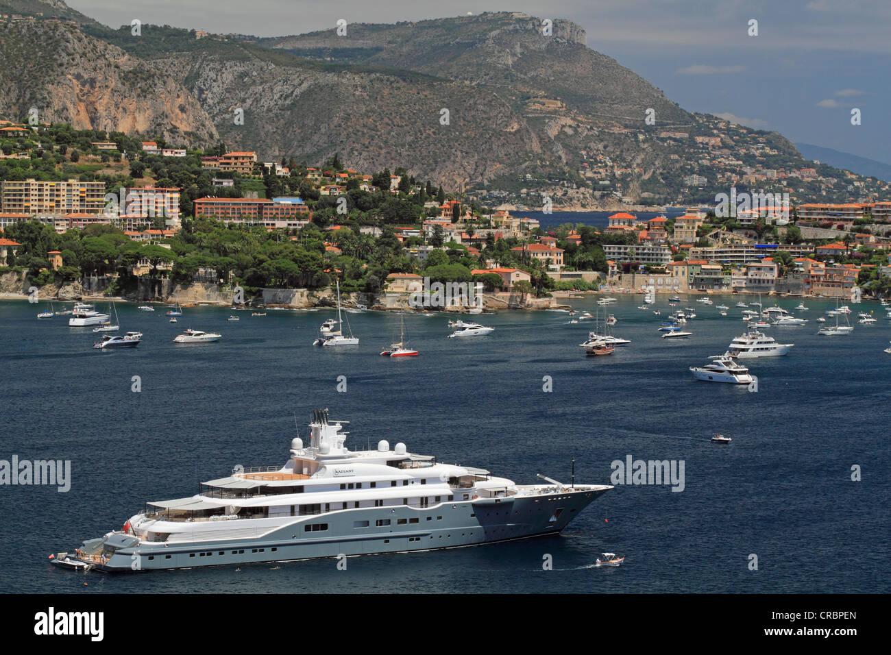 Motor Yacht, radiosa, costruito da Luerssen Yachts, lunghezza complessiva, 110 metri, costruita nel 2009, di proprietà Immagini Stock