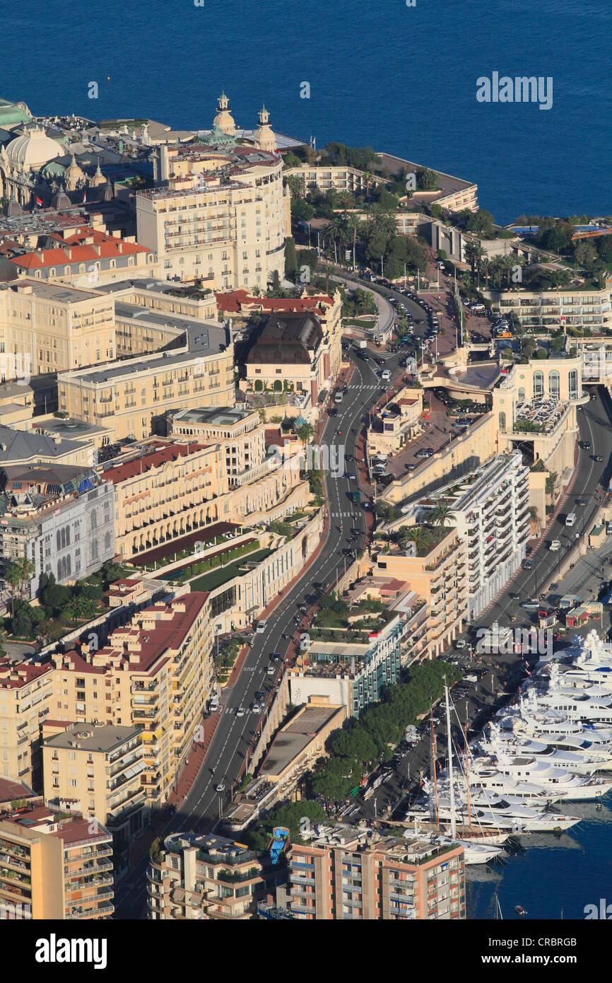 Circuito Monaco : Strada dal porto al casino di montecarlo circuito di formula