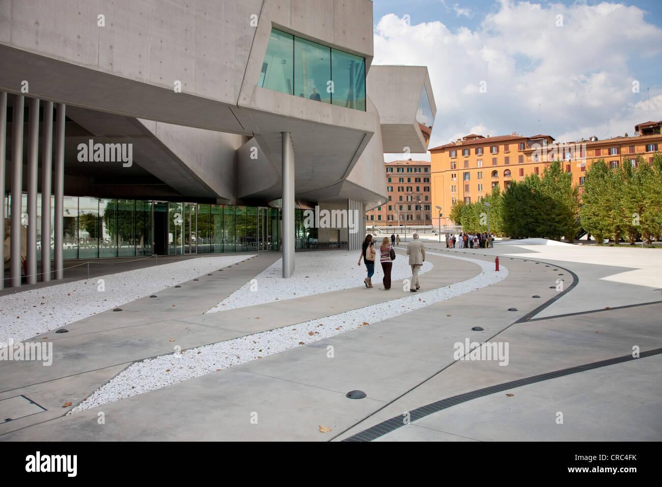 Museo Nazionale delle Arti del XXI secolo e il Museo Nazionale di arte del XXI secolo, noto come il MAXXI di Roma, Immagini Stock