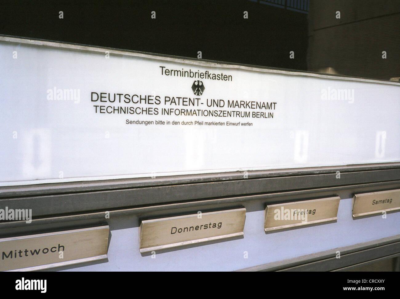 Ufficio In Tedesco : Lettera di nomina box ufficio brevetti e marchi tedesco foto