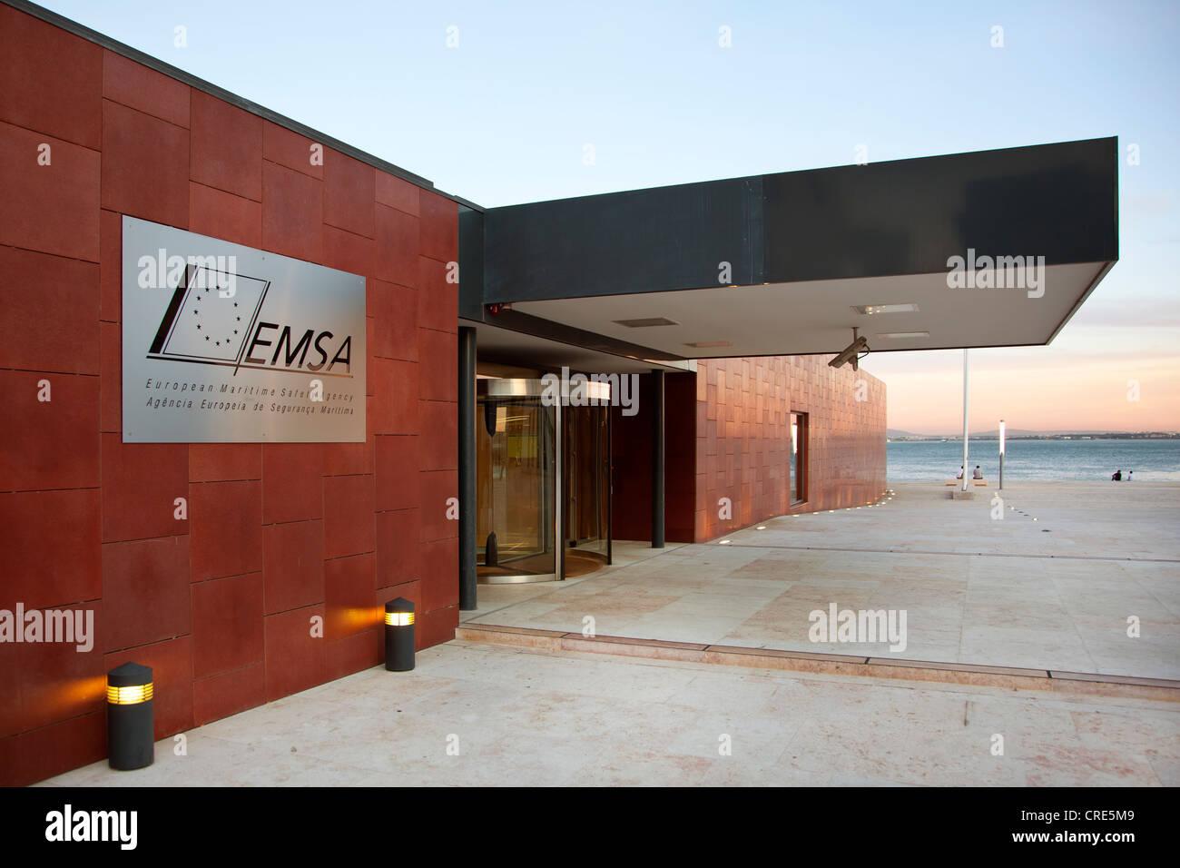 La sede amministrativa dell'Agenzia europea per la sicurezza marittima, EMSA, un'agenzia dell'Unione Immagini Stock