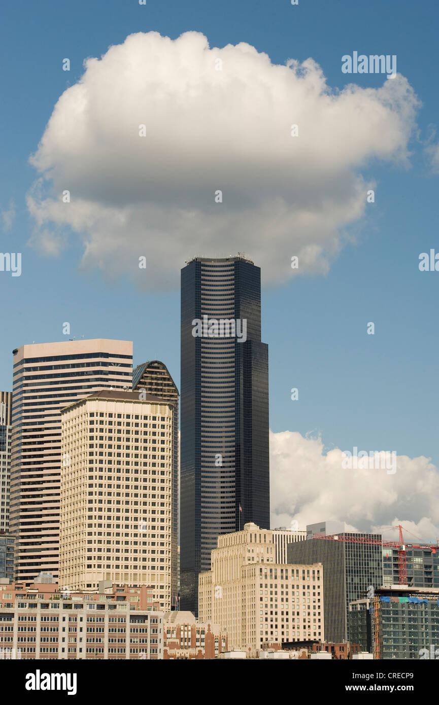 Centro di Columbia (Bank of America Tower) 285m/937f, il grattacielo più alto edificio in Seattle, Washington Immagini Stock