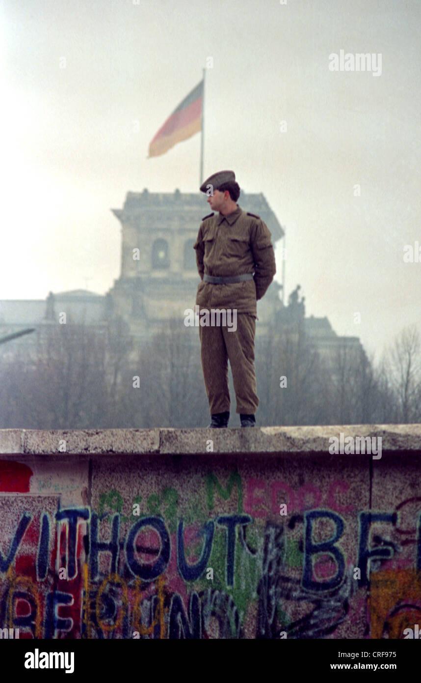 Maueroeffnung, Berlino Immagini Stock