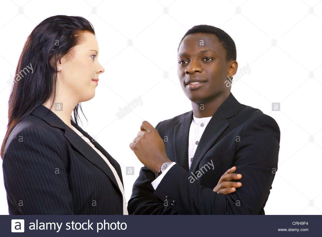 Talk business Immagini Stock