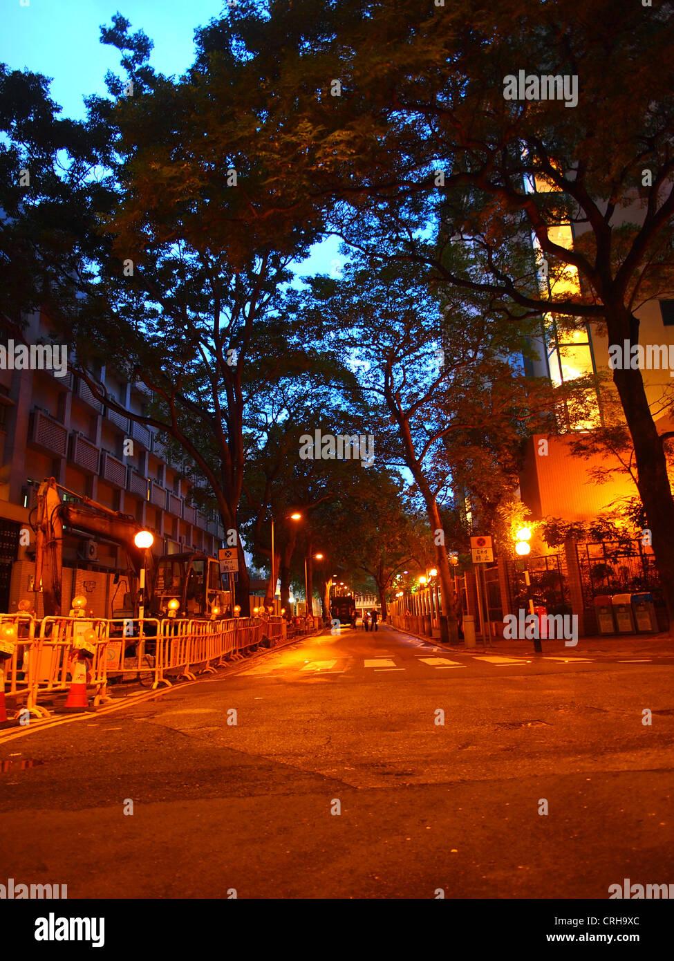 Senso urbano di notte Immagini Stock