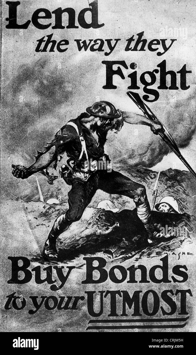 Obbligazioni di guerra poster Foto Stock