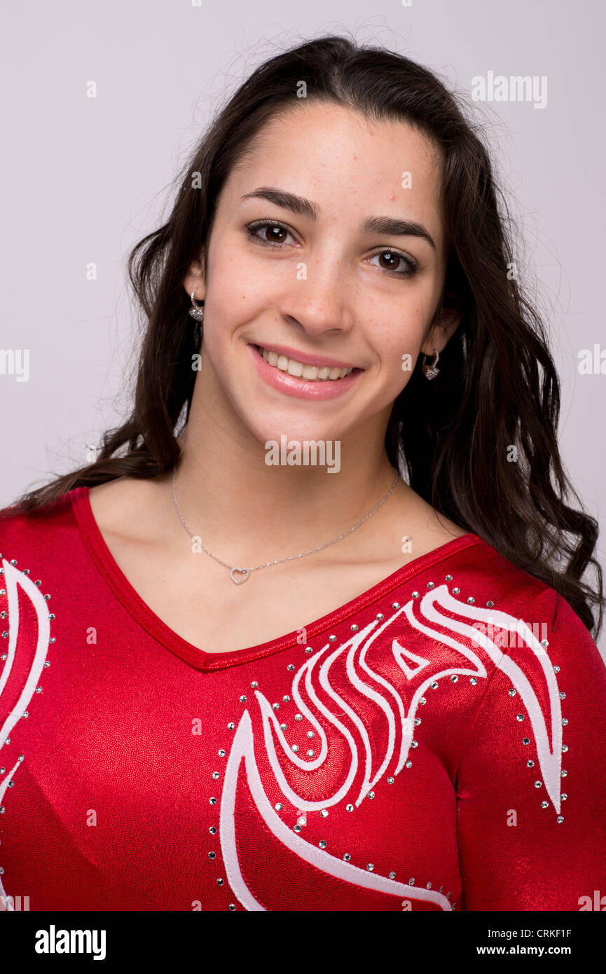 Ginnasta Aly Raisman presso il Team USA Media Summit a Dallas, TX in anticipo delle Olimpiadi di Londra 2012. Immagini Stock